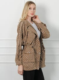 Stone - Polka Dot - Unlined -  - Puffer Jackets