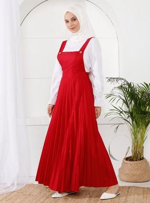 Maroon - Unlined - Dress