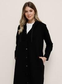 Black - Unlined - - Plus Size Coat
