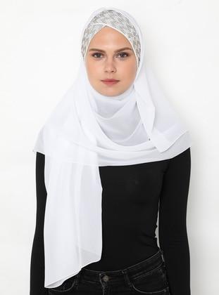 White - Plain - Litho - Shawl