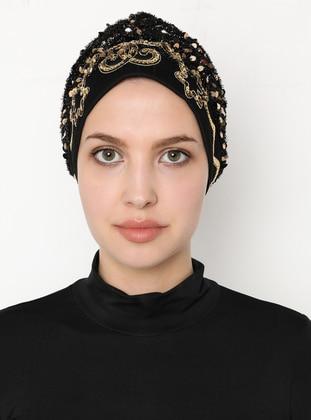 Gold - Black - Simple - Bonnet