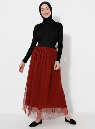 Terra Cotta - Fully Lined - - Skirt