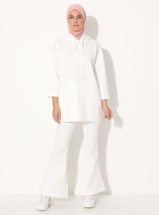 White - Unlined - Suit