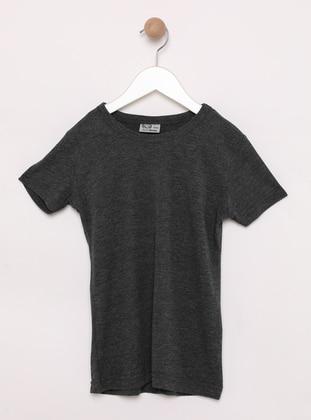 Crew neck -  - Anthracite - Girls` Sweatshirt