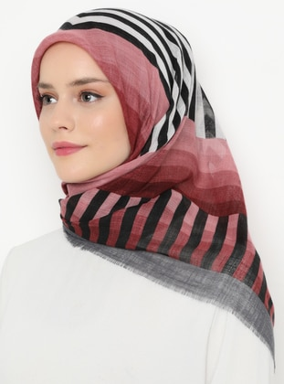 Smoke - Printed - Viscose - Scarf