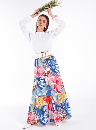 Blue - Multi - Unlined -  - Skirt
