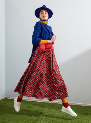 Red - Red - Plaid - Unlined - Cotton - Red - Plaid - Unlined - Cotton - Red - Plaid - Unlined - Cotton - Red - Plaid - Unlined - Cotton - Skirt