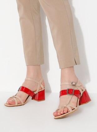 Red - Nude - High Heel - Heels