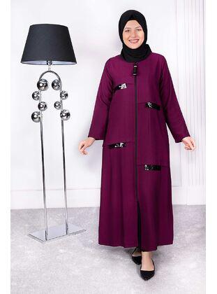 Plum - Plus Size Evening Abaya