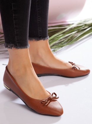 Flat - Casual - Tan - Casual Shoes - Ayakkabı Havuzu