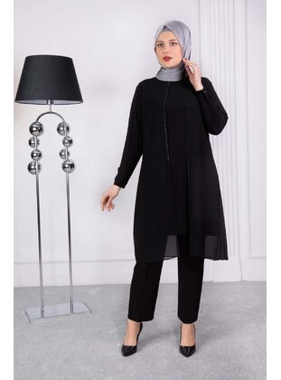 Black - Plus Size Evening Tunics