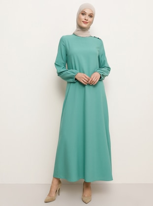 Green Almond - Crew neck - Unlined - Dress