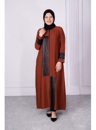 Tan - Plus Size Evening Abaya