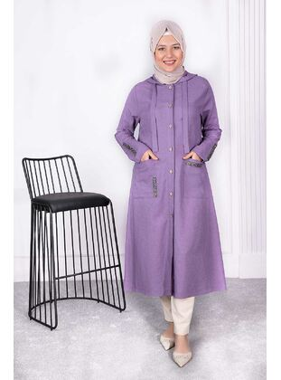 Lilac - Plus Size Coat