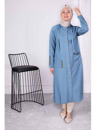 Blue - Plus Size Coat