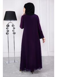 Plum - Muslim Plus Size Evening Dress