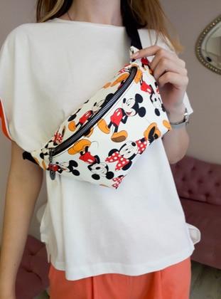 White - Multi - Satchel - Bum Bag