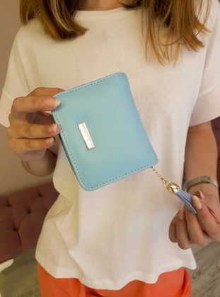 Blue - Clutch - Wallet