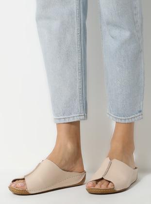 Beige - Nude - Sandal - Slippers