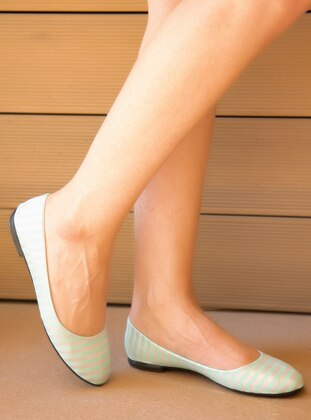 Mint - Flat - Linen - Flat Shoes