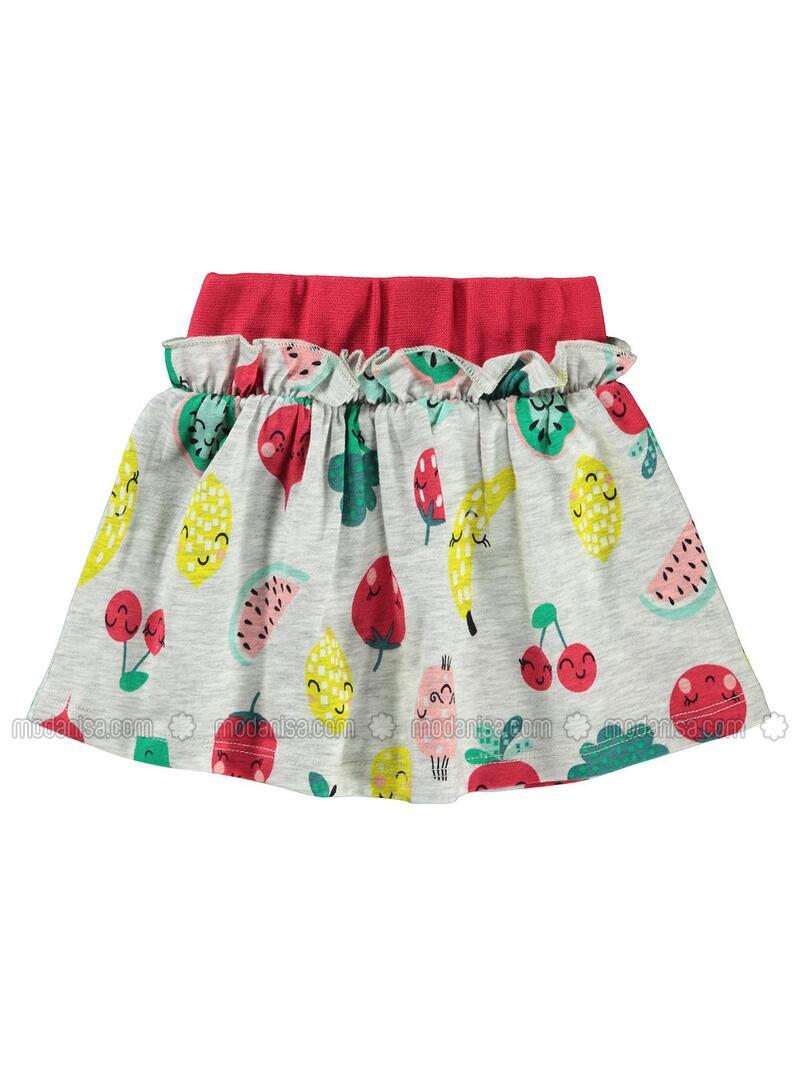 Gray - Baby Skirt