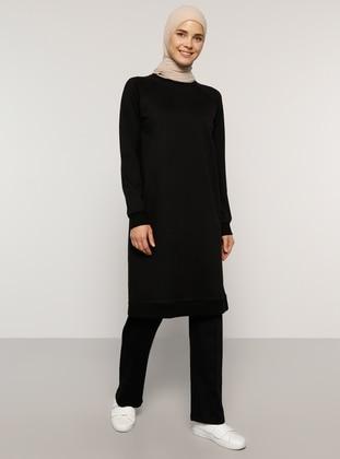 Black - Black - Unlined -  - Tracksuit Set