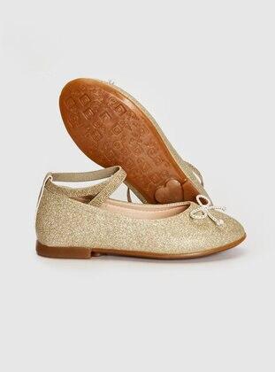 Gold - Girls` Flat Shoes