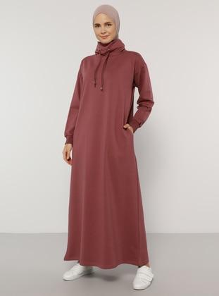 Plum - Polo neck - Unlined - - Dress - Everyday Basic