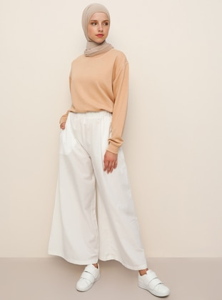 Ecru - - Pants