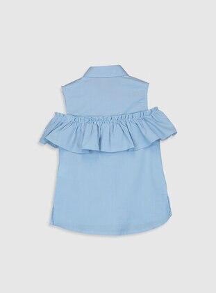 Blue - Girls` Shirt - LC WAIKIKI