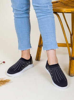 Casual - Silver tone - Black - Casual Shoes