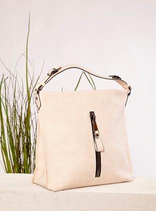 Polyurethane - Cream - Satchel - Shoulder Bags