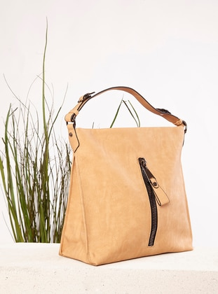 Polyurethane - Nude - Satchel - Shoulder Bags