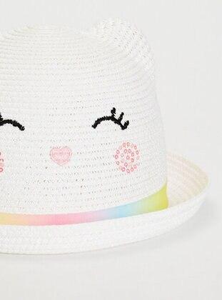 Beige - Girls` Hat