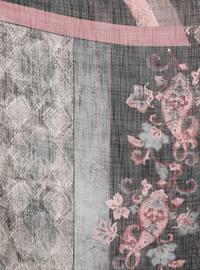 Pink - Black - Printed - Scarf