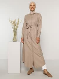 Mink - Unlined - Point Collar -  - Knit Dresses