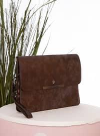 Copper - Polyurethane - Satchel - Clutch - Clutch Bags / Handbags