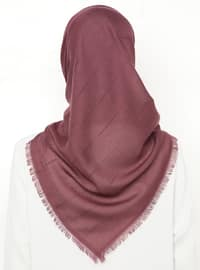 Dusty Rose - Striped - Plain - Scarf