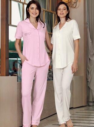 Ecru - Modal -  - Pyjama Set