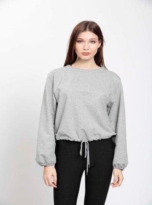 Gray - Plus Size Blouse
