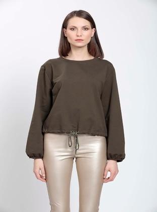Khaki - Plus Size Blouse