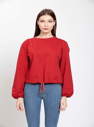 Red - Plus Size Blouse