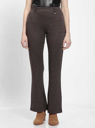 Brown - Plus Size Pants
