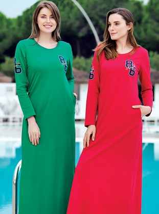 Red -  - Loungewear Dresses