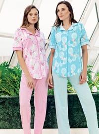 Pink - Multi -  - Maternity Pyjamas