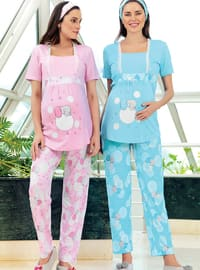 Pink - Multi -  - Maternity Pyjamas