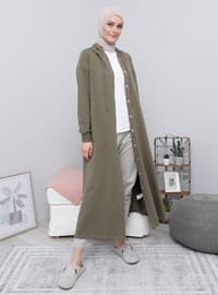 Green - Unlined - Cotton - Topcoat