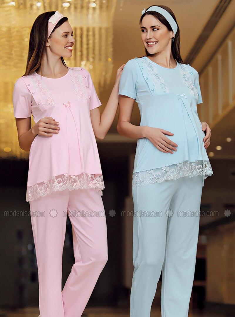 Pink - Modal -  - Maternity Pyjamas