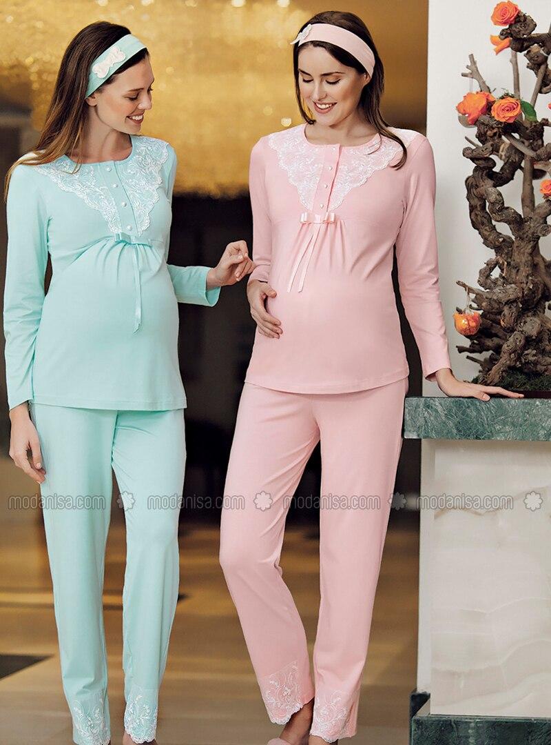Salmon - Modal -  - Maternity Pyjamas