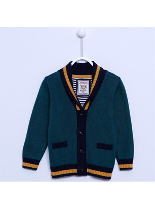 Green - Boys` Cardigan - Silversun
